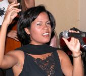 Vionaika Martínez en Caibarién (foto: Ivonne Espada)