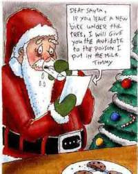 Funny Christmas Card Santa