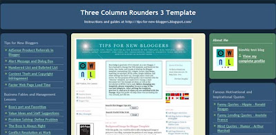 Three Columns Rounders 3 Template