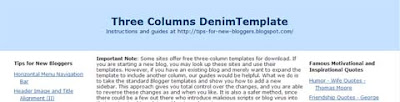 Three Columns Denim Template