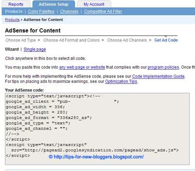 AdSense Code in Blogger Post Body