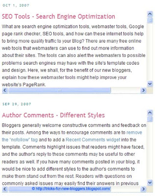 Add Scrollbars to Blog Posts