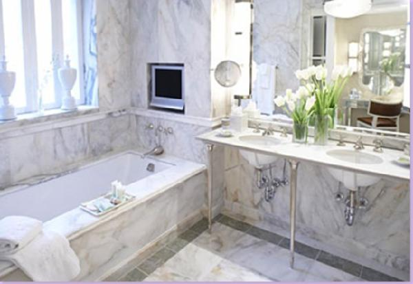 A Whole Lotta Love The Classic White Marble Bathroom