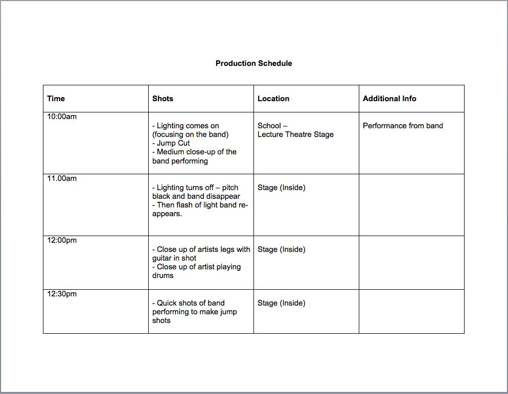 interview schedule template word
