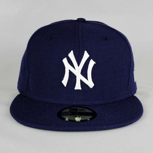 Custom new era fitted hat new york purple white 1