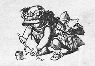 Dibujo de niña jugando con arena