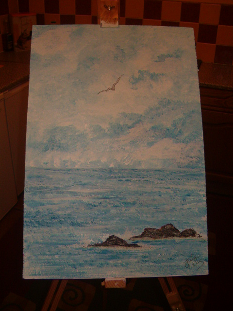 Seascape in acrylic