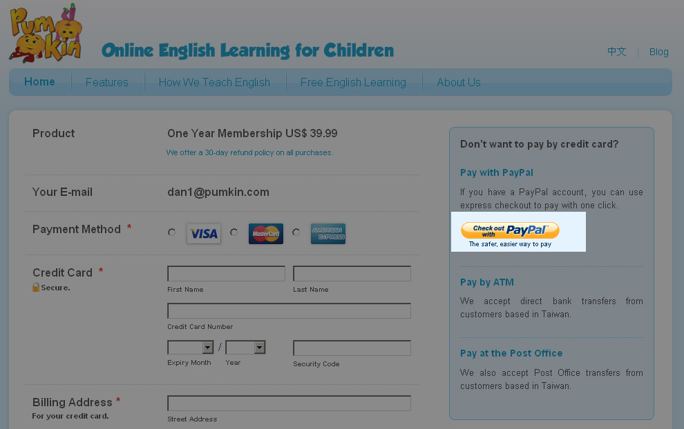 paypal com english