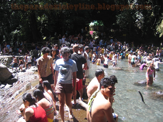 Visitors to Majayjay Falls
