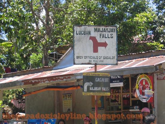 Sign to Majayjay Falls