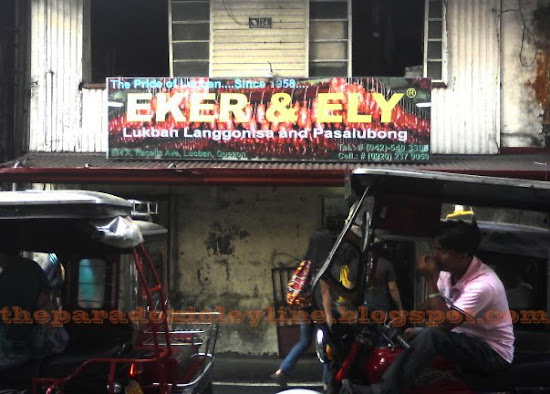 Eker & Ely shop of Lucban Longganisa