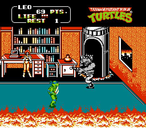 [VideoGames] Del Comic a las Consolas - Página 2 Ninja-Turtles-Arcade-Game-NES