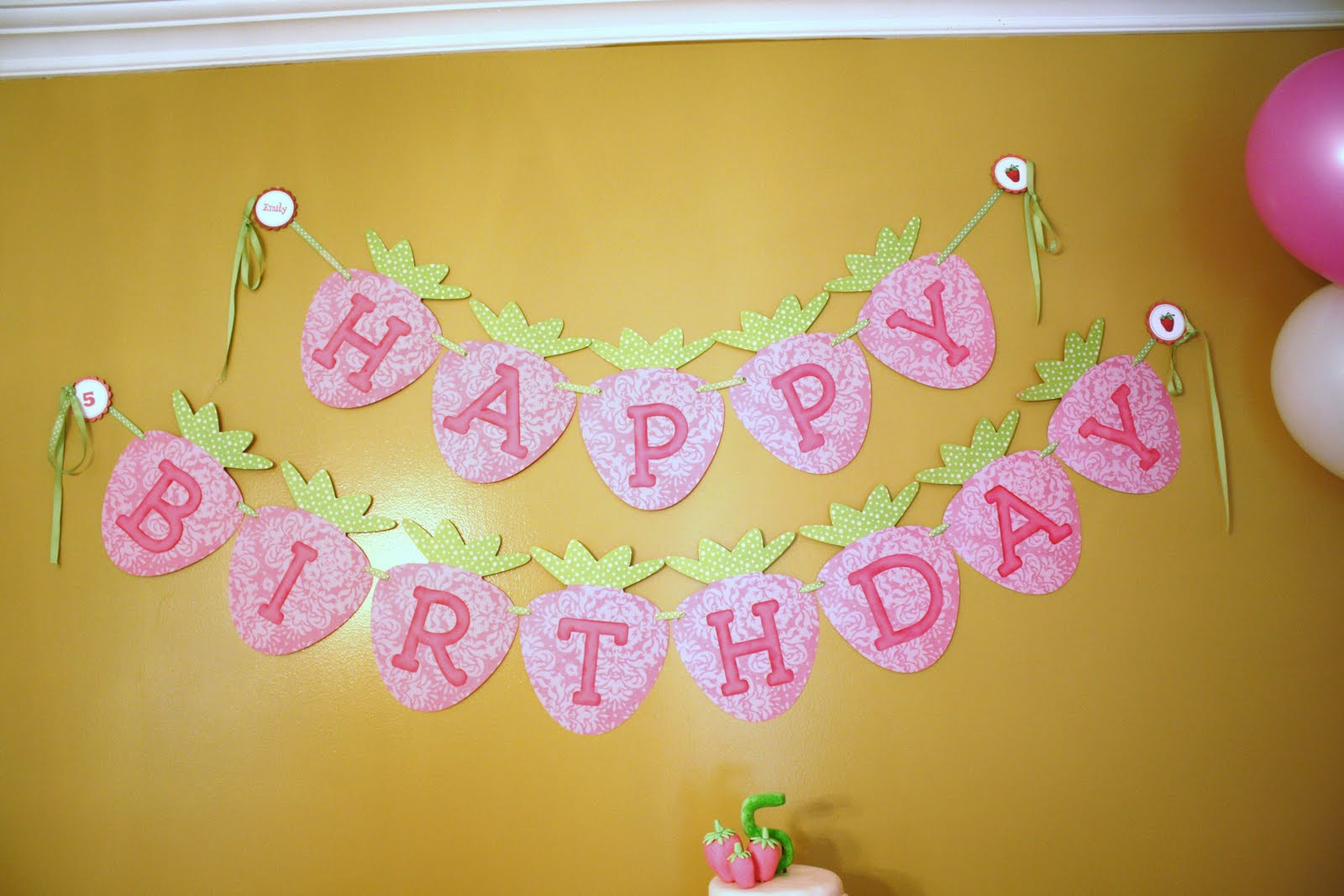 Birthday Decorations On Wall Image Inspiration of Cake and