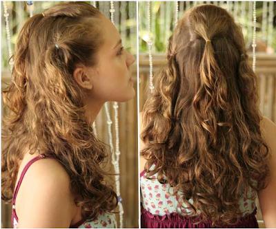 penteado com cacho