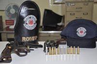 ROMEP/Guarda Municipal de Americana / Três são presos por porte ilegal de armas