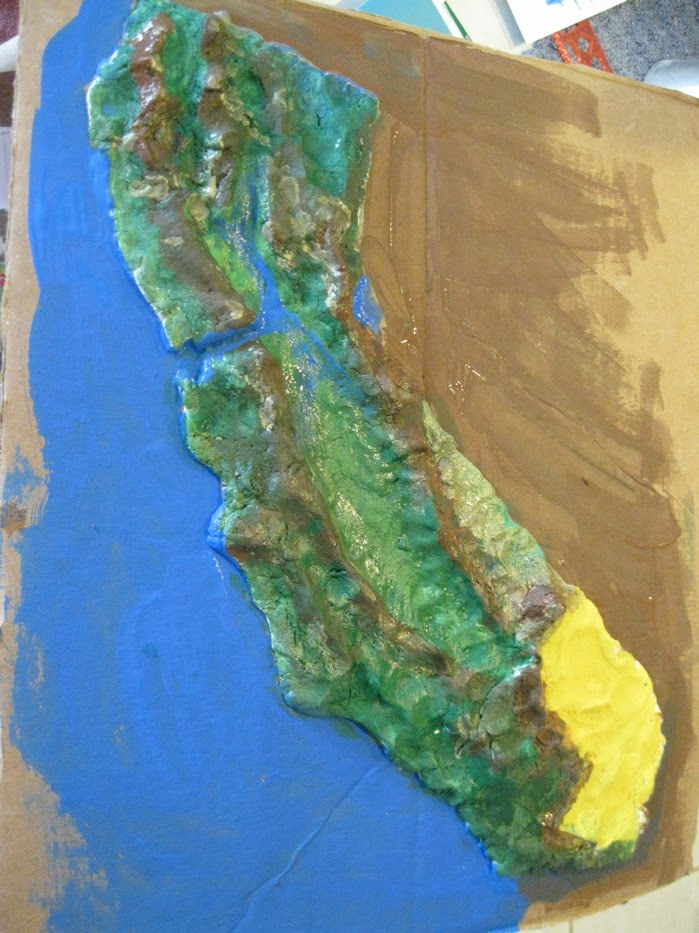 Sea Star Academy: Salt Dough Map of Cali.