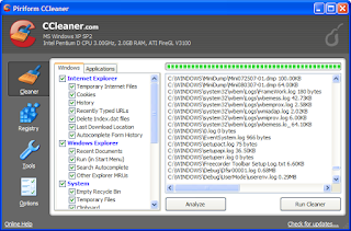 Ccleaner Tune-ups your computer