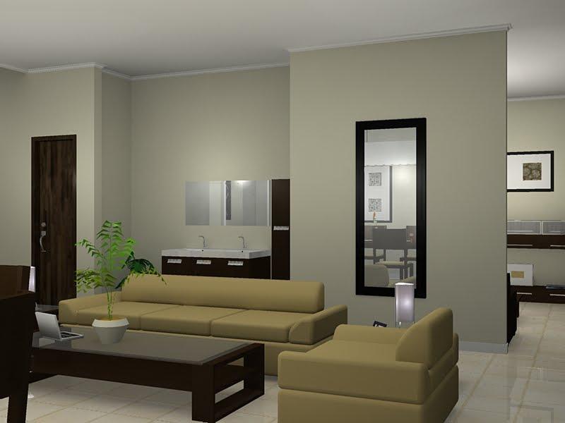 desain interior minimalis dengan warna pastel rancangan