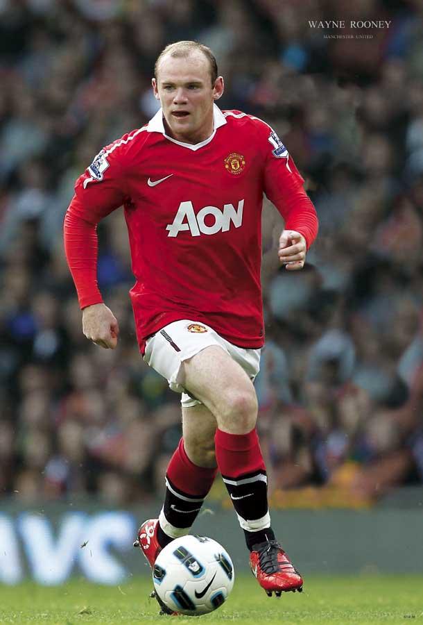 Wayne Rooney Man U Wayne Rooney Man U Poster MeDeePosterShop