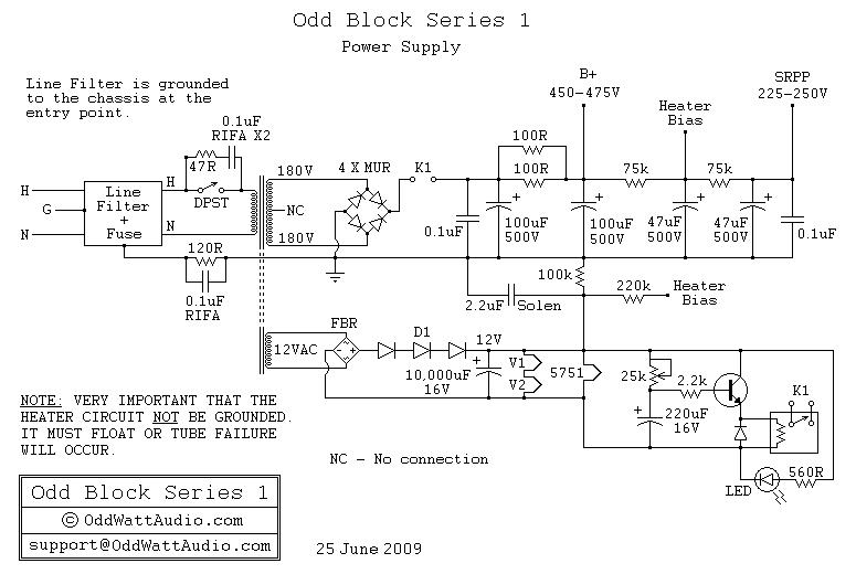 Schematic  U0026 Wiring Diagram  Odd Block Kt88 Series 1 Tube