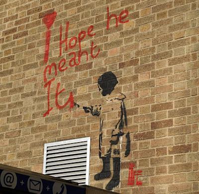 Banksy-esque graffiti art