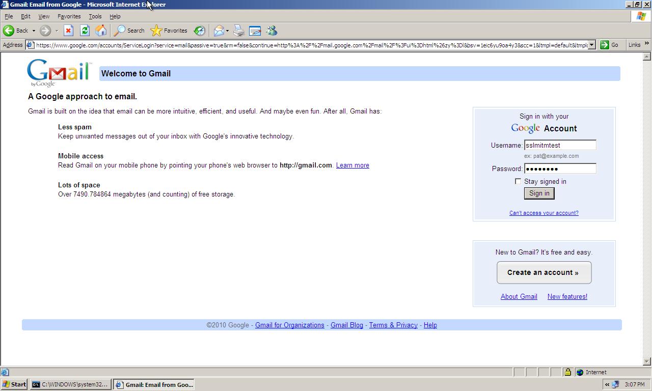 Random ramblings ssl mitm attack using ettercap user logging into his gmail account xflitez Gallery