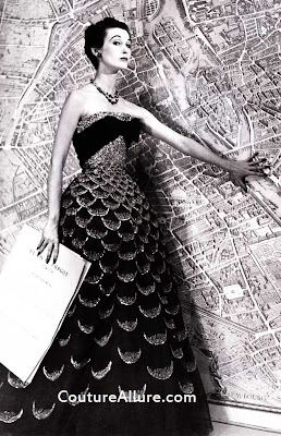 1951 dior evening gown