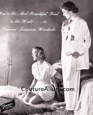 tommies satin pajamas, 1948