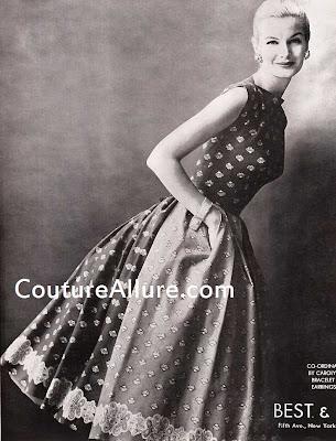 carolyn schnurer dress, 1954