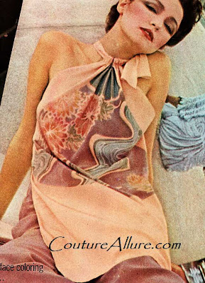 bill blass, evening pyjama, 1975