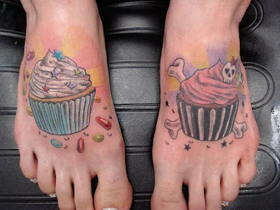 Good and Evil cupcake tattoos