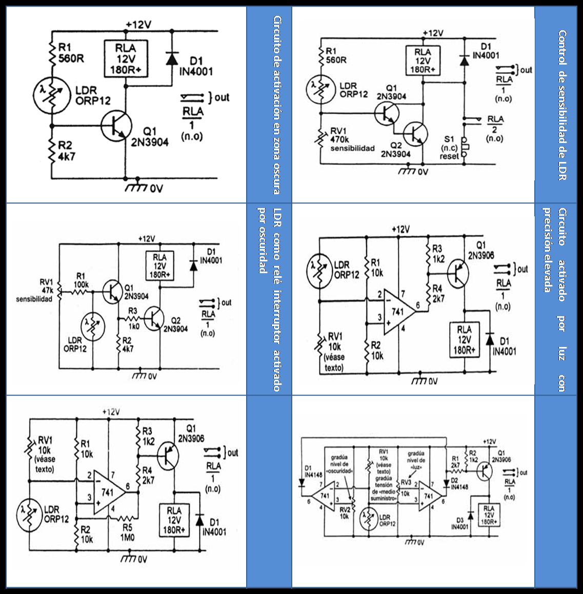 Light Dependent Resistor Ldr Electrnica Radical Circuit Diagram On A Continuacin Se Presentan Algunos Ejemplos De Circuitos Con