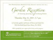 PHS Garden Reception