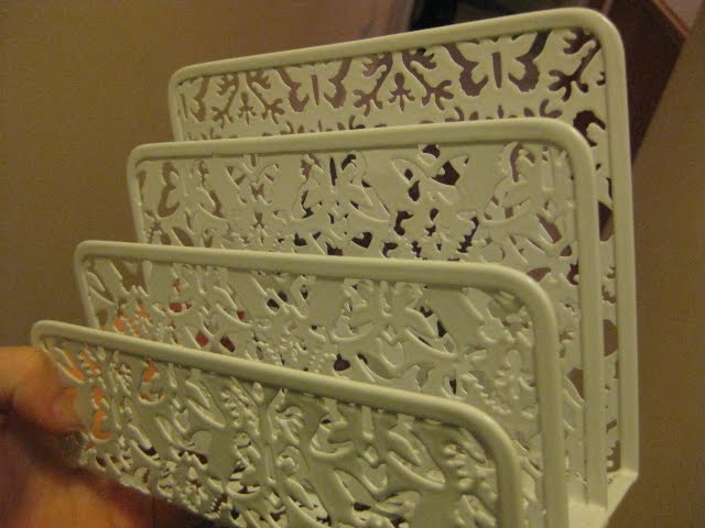 staples butterfly letter rack