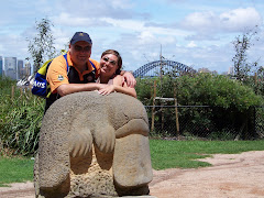 Jen and Scott at Taronga Zoo in Sydney