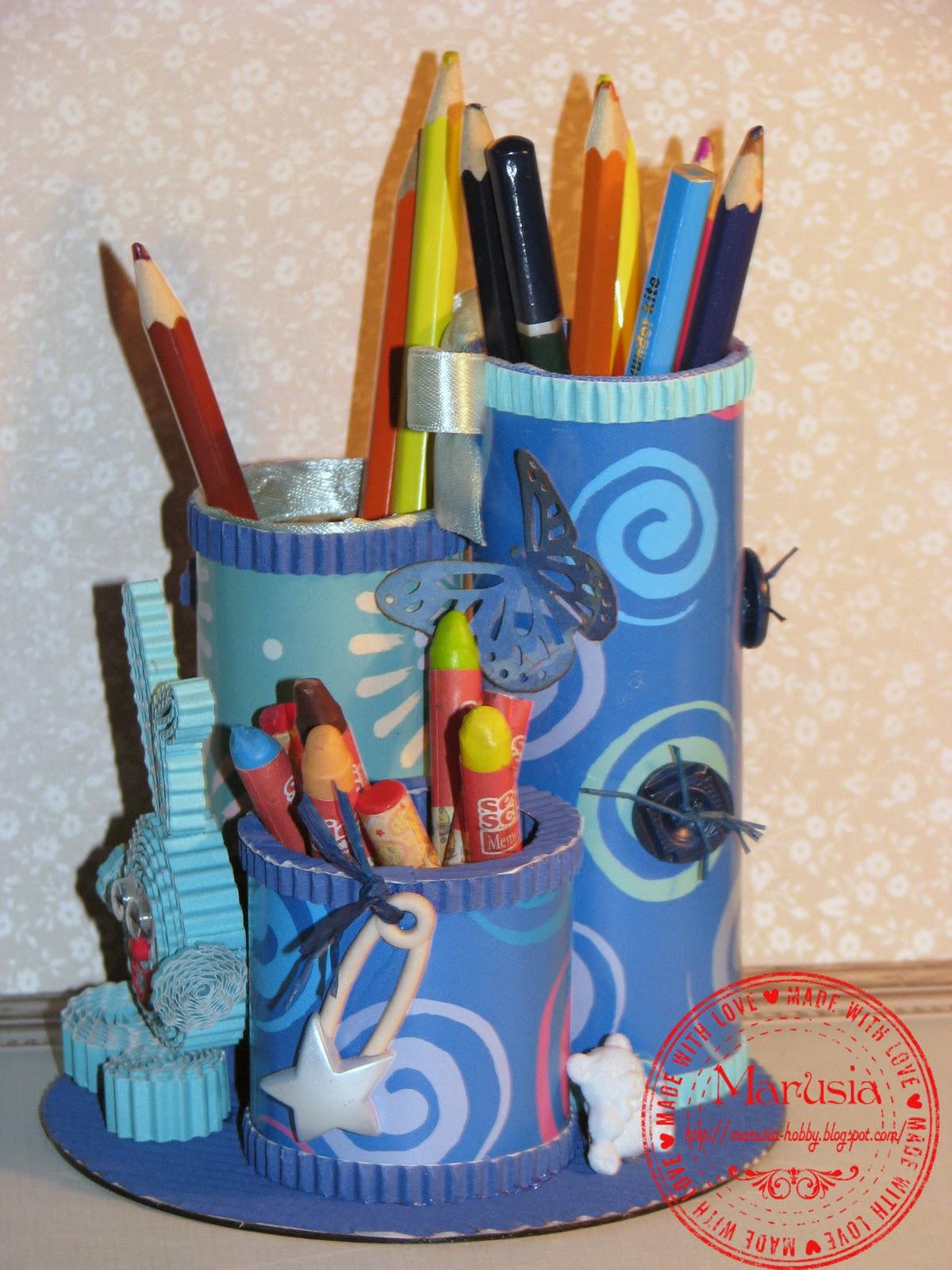 Подставка для карандашей своими руками. Мастер-класс