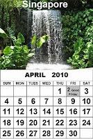 April 2010 Calendar Cards