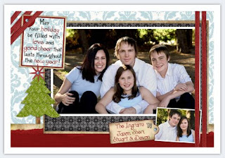 New Year Family Photo Card