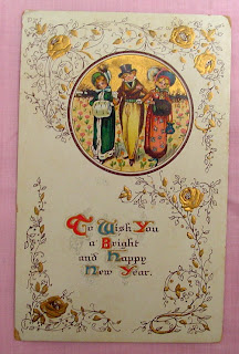 Antique New Year Postcard