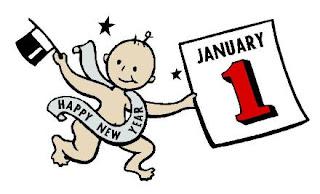baby new year celebration card