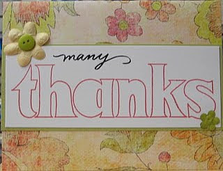 New Year Thank You Note Card