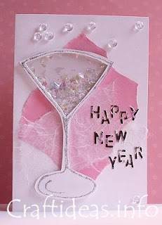 new year paper craft cards