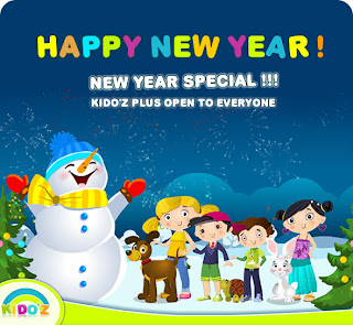 animated new year kids wishes