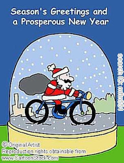 New Year Santa Cards