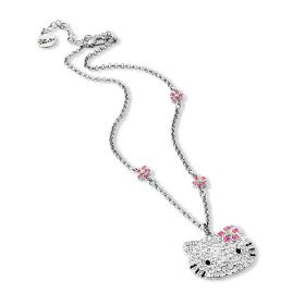 Hello Kitty Large Pink Bow Ice BLING Necklace