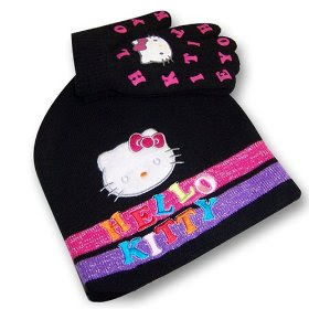 Hello Kitty Scarf Beanie Glove SetPrice is $15.xx