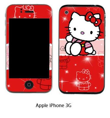 Hello Kitty iPhone 3G Skin Sticker