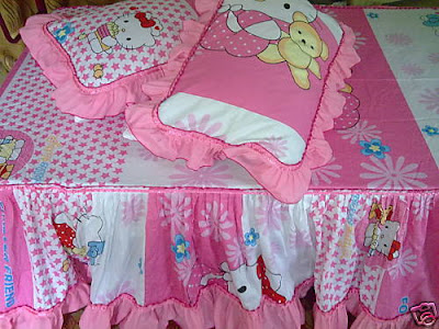 Hello Kitty Single Beddings Bedsheet