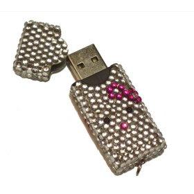 Cute Kitty Bling USB Flash Drive