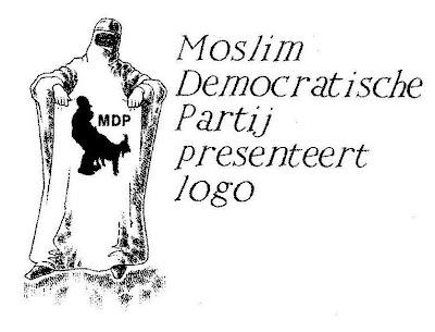Mosim Democratische Partij presenteert logo (Gregorius Nekschot)